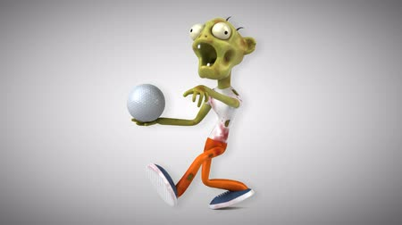 podridão : Cartoon zombie with golf ball