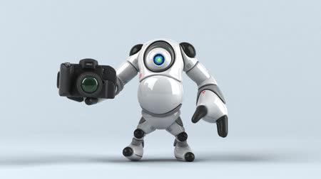 advanced : Cartoon robot with a camera