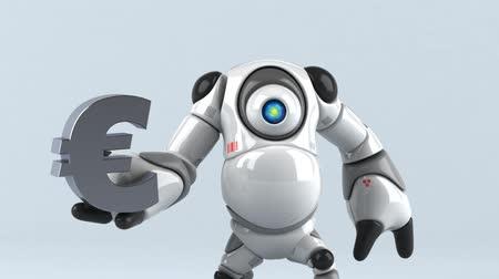 estrangeiro : Cartoon robot with a Euro symbol