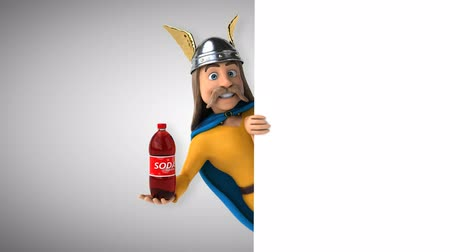 kelta : Cartoon gaul character with a soda bottle