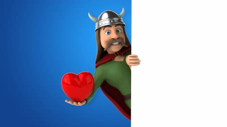 Cartoon gaul character with heart shaped