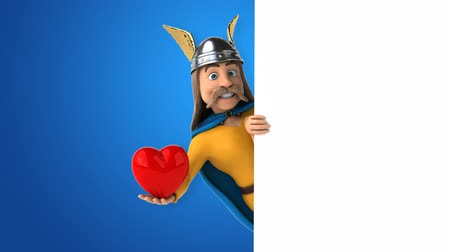 фасонный : Cartoon gaul character with heart shaped