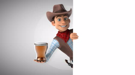 herder : Cartoon cowboy character with a beer