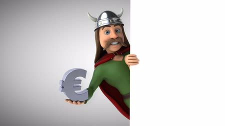 érték : Cartoon gaul character with European symbol