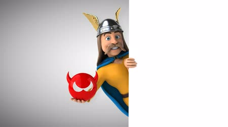 şeytan : Cartoon gaul character with devil icon