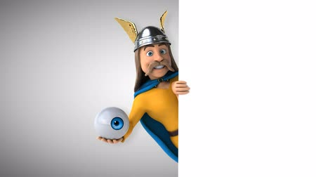 harcos : Cartoon gaul character with an eyeball