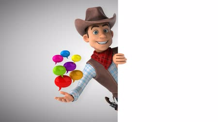 herder : Cartoon cowboy character with speech bubbles