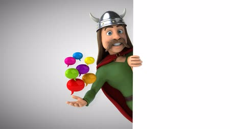 keltisch : Cartoon gaul character with speech bubbles