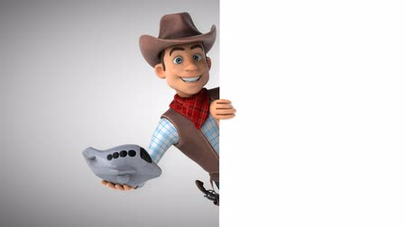 herder : Cartoon cowboy character with airplane