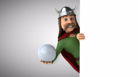 Cartoon gaul character with a golf ball