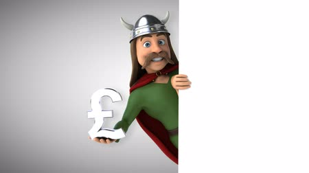 Cartoon gaul character with pound symbol