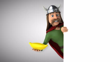 Cartoon gaul character with banana