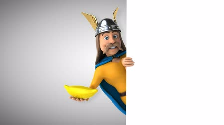 kelt : Cartoon gaul character with banana