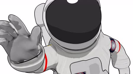 toon : Cartoon astronaut floating