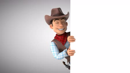 herder : Cartoon cowboy pointing