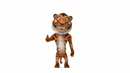 divoký : Cartoon tiger showing a thumbs up