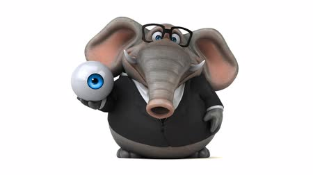 bulva oční : Cartoon elephant in formal attire with eyeball