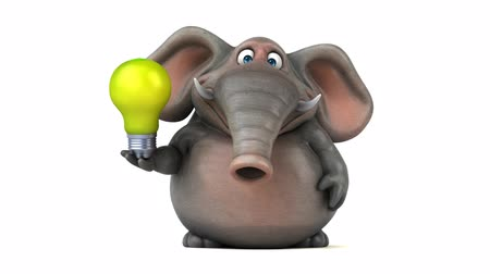filaman : Cartoon elephant with lightbulb