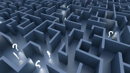 problem : Endless maze with blue walls and illuminated question marks