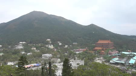 Ngong Ping Village and temple view from the big Buddha