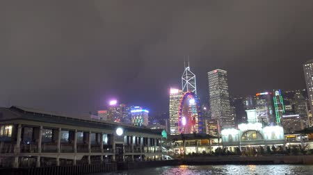 View of Hong Kong on Ferry leaving the Star Ferry Pier
