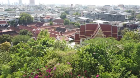 View of Bangkok On top of wat sraket rajavaravihara The golden mountain