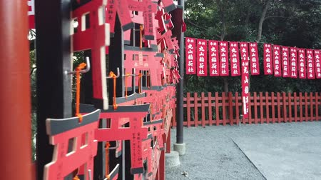 Kamakura, Japan - 21 maart 2018: Japanse Lucky Ornament-tag hangt in Hase-Dera.