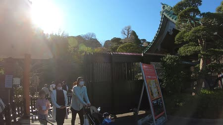 kanto : KAMAKURA, JAPAN - 2019 March 21: People are visiting Hase-Dera shrine. Stock Footage