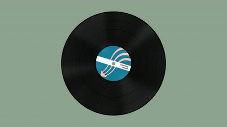 gramophone : Vinyl records spinning loop animation with alpha matte.