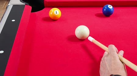 bolas : Game of American billiards played on a billiard table for two persons