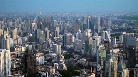 panoramic view : City panaroma Stock Footage