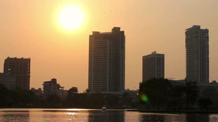 capital cities : sunset at colombo, sri lanka