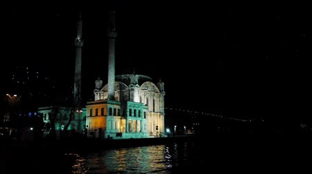 минарет : Turkey, Istanbul, Mosque at night