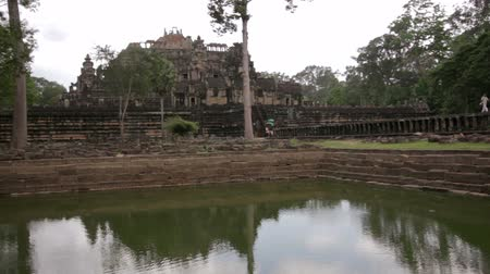 southeast : baphuon temple in angkor, siem reap, cambodia Stock Footage