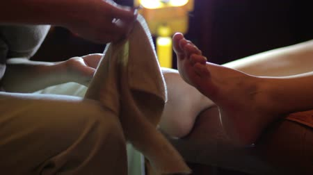 massages : Close up of foot during pedicure