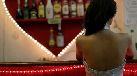 bares : gorgeous asian woman alone at bar