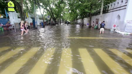 floods : Street under flood