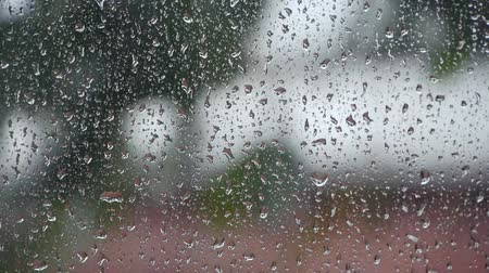chuva : raindrops on the window at daytime