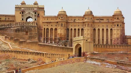 âmbar : View of Amber Fort in Jaipur India