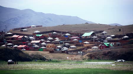sátor : Poor households in outskirts of Ulaanbaatar, Mongolias Capital Stock mozgókép