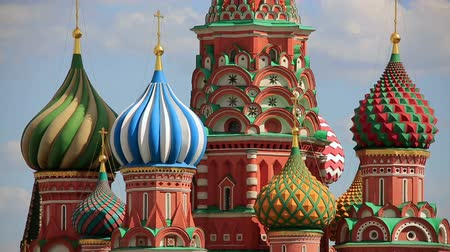 moskwa : Saint Basils Cathedral, Moscow, Russia Wideo