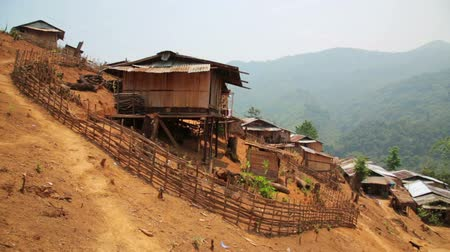 hill tribe : indigenous tribal culture of Akha tribe village, Pongsali, Laos