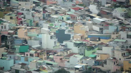 chi : Areal view of Ho Chi Minh City Slums, Saigon, Vietnam