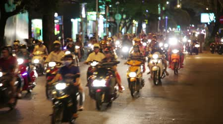 lovas : motorbike scooter traffic, ho chi minh city, vietnam