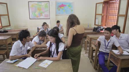 unicef : PHNOM PENH - JUNE 2012: students in NGO orphanage school