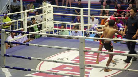 puncs : PHUKET, THAILAND - JUNE 2014: Muay Thai box matches