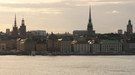 stockholm old city view at sunset, sweeden