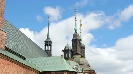 riddarholm church, one of oldest building in stockholm, sweden,