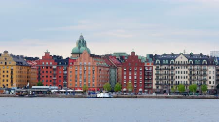 estocolmo : stockholm old city view, sweeden Vídeos