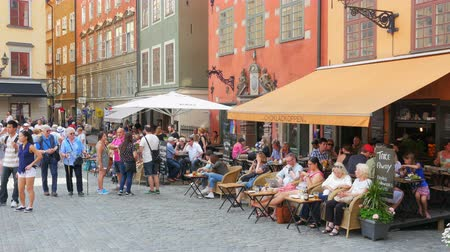 STOCKHOLM - SWEDEN, AUGUST 2015: people enjoy in old city